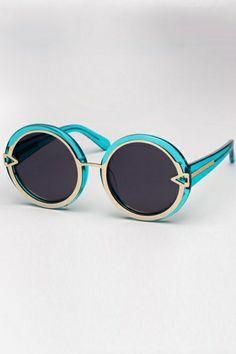 Pretty Round Frame Sunglasses OASAP.com