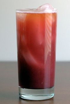 The Purple Pushover is a mostly rum-based cocktail, with orange and pineapple juice, and  some very clear notes from a red raspberry liqueur and grenadine. The taste is fruity and sweet – more mellow than citrus.