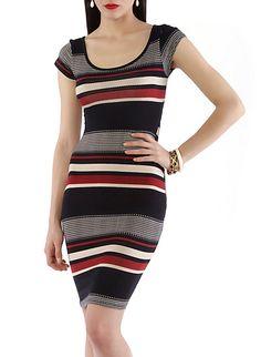 Bodycon Tribal Striped Dress