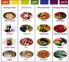 Acid and Alkaline food chart: Too much acid in our diet leads to arthritis, cancer, stomach problems, etc. The issue in America is that we consume far too many acidic foods, and barely any alkaline foods. Acid And Alkaline, Alkaline Foods, Raw Food Recipes, Diet Recipes, Healthy Recipes, Healthy Fruits, Healthy Foods, Easy Recipes, Fat Foods
