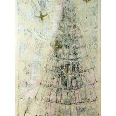 "Grafik Scheffmann Monotypi - bemalet tryk ""Tower of Babels"" 3 Tower Of Babel, Graphics, Graphic Design, Charts"