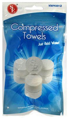 Compressed Towels - 12 Pack
