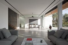 A private, family residence designed by Pitsou Kedem Architects, located in an urban environment in Israel