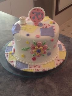 For a lovely ladies 70th Birthday who loves sewing.. A dairy and gluten free chocolate mud cake.