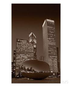 Chicagos Millennium Park BW Photographic Print by Steve Gadomski at AllPosters.com