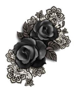 Roses w/ lace