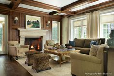 Greenwich, CT   Valerie Grant Interiors #CofferedCeiling #WaffleCeiling, AccentHaus.com
