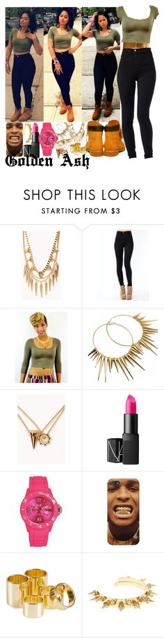 """Army A$AP"" by fashionsetstyler ❤ liked on Polyvore featuring Forever 21, Tiffany & Co., Timberland, NARS Cosmetics, Ice-Watch and ASOS"