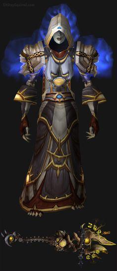 WoW Undead Female Destruction Warlock Artifact Transmog. World of Warcraft Set Ideas