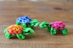 Rainbow loom® Schildpadje - http://www.rainbow-loom.nl/rainbow-loom-videos-voorbeelden/rainbow-loom-nederlands-schildpadje/
