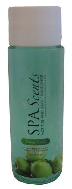 SpaScents Liquid Hot tub and Bath Fragrance Green Apple Aloe, Aromatherapy, Tub, Moisturizer, Vitamins, Fragrance, Bath, Green, Collection