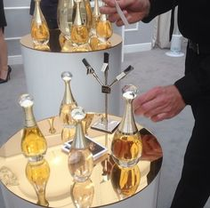 Bottles, bottles, everywhere at the launch of Dior's J'Adore l'Absolu