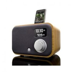 1.5R: Hand Crafted Wood Radio + Alarm Clock for iPod (Bamboo) by Vers Audio - iPod Dock