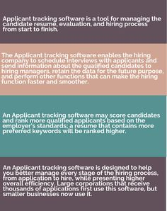 How to Select the Best Applicant Tracking Software for Your Business Tracking Software, Hiring Process, Best Practice, The Selection, Management, Good Things, Business, Store, Business Illustration