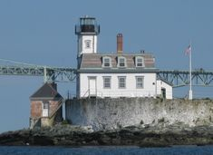 Rose Island Lighthouse, Rhode Island. Apparently you can rent this place for a night or two...