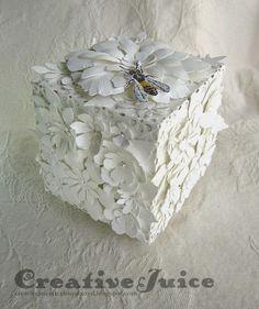 Monochromatic Floral Artist Trading Block by Lisa Hoel | @ArtTheBlock #TheATB