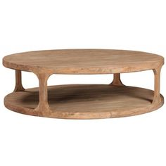 BIG Round Reclaimed Wood Coffee Table