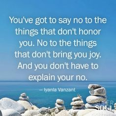 Quote about Learning to Say No - Iyanla Vanzant