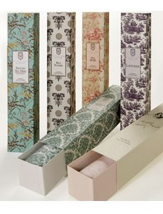 Drawer Liners ~ Add a bit of pretty scent to your clothes before you even put on your perfume.