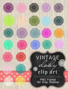 Free Doily Clip Art by Sweetly Scrapped