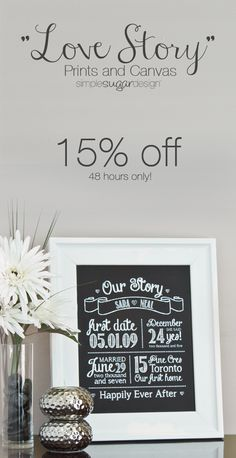 Display your very own love story! Cherish all the details that make your love story unique with this beautiful Love Story Chalkboard Print. Every detail is hand placed, so no two prints are alike . just like your story! Nursery Prints, Wall Prints, Neal Art, Chalkboard Print, Beautiful Love Stories, Classic White, Giveaways, Love Story, Baby Gifts