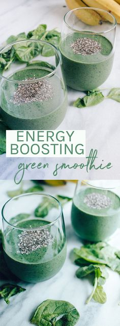 Using collagen protein powder, chia seeds for fiber, and spirulina for extra energy, Source by lexiscleankitch Protein Smoothies, Healthy Green Smoothies, Raspberry Smoothie, Apple Smoothies, Green Smoothie Recipes, Breakfast Smoothies, Healthy Drinks, Energy Smoothie Recipes, Energy Boost Smoothie