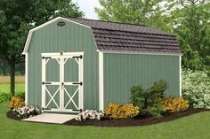 There's nothing like this wooden storage building to help keep your house neat and tidy. Store all the items you do not need so frequently in this well-designed building. You can even upgrade and add a corner porch if you would like!