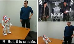 Engineers at Tufts University in Massachusetts used artificial intelligence to teach robots to assess whether it is safe to perform a task and refuse to do it if it is dangerous.