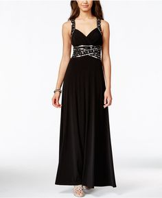 Speechless Juniors' Embellished Empire Gown, Only at Macy's