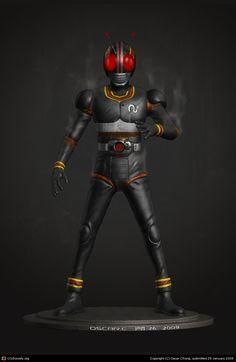 Kamen Rider Black by Oscar Chong | 3D | CGSociety