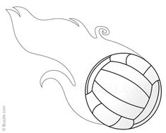 Flaming Volleyball Step 7 Drawings Drawings Easy Drawing Steps