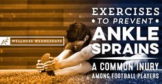 Ankle sprains are one of the most common injuries in high school football players. There are some easy exercises athletes can do to increase ankle strength. High School Football Player, Football Players, Football Injuries, High Ankle Sprain, American Flag Football, Ankle Ligaments, Ankle Exercises, Sprained Ankle