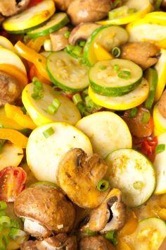 Zucchini Saute Recipe // Prep 15 min; Cook 15 min; Ready 30  min; Serves 6 | #health #food #vegetables