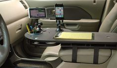 JourniDock - Mobile Desk and Car Organizer for Electronics - JourniDock helps you organize your vehicle - Mobile Desk, Mobile Office, Vw California T6, Kangoo Camper, Kombi Motorhome, Campervan, Vw Lt, Kombi Home, Car Office