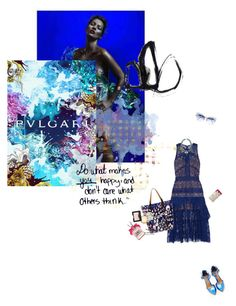 """""""Blue mood"""" by jemimap ❤ liked on Polyvore featuring self-portrait, Marni, Shoe Cult, Moo Piyasombatkul, J.Crew, Figs & Rouge, NARS Cosmetics, Juicy Couture and BOBBY"""