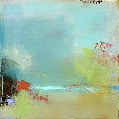 Abstract Landscape Painting - Summer Landscape by Jacquie Gouveia