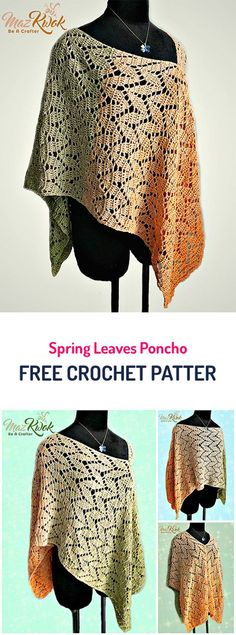 Spring Leaves Poncho