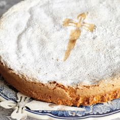 Made big or small, thick or thin, this Spanish almond cake is always moist and fragrant. Recipe from Epicurious, found at www.edamam.com