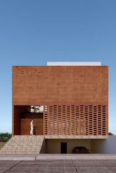Brick Architecture, Minimalist Architecture, Contemporary Architecture, Interior Architecture, Contemporary Interior, Design Exterior, Brick Design, Facade Design, House Design