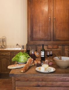 Bedarieux Apartment Rentals in France | 2 Bedroom Apartment Within Rare Historic Chateau (L'appartement des Seigneurs) #france #rustic #kitchen