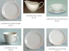 Castle White China @ http://partyrentalcity.com/collections/castle-white-china