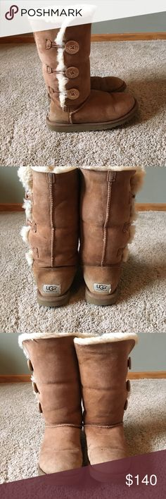 UGG boots Slightly discolored; still very comfy and warm. Tall chestnut model UGG Shoes Winter & Rain Boots