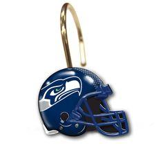 Seattle Seahawks Shower Curtain Rings at SportsFansPlus.com