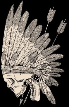Indian skull. I love this as a tattoo.