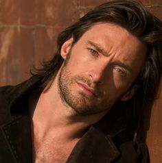 Love the long hair on Hugh Jackman.