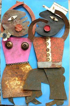 A talon,metal sculpture,96.8x61.5cm
