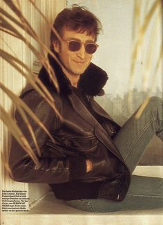 John with his new hair cut. dec 8, 1980