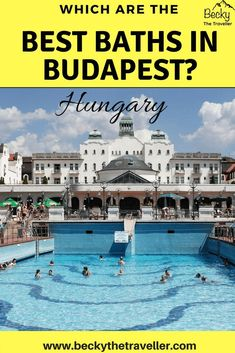 Travellers pick the top 4 best baths in Budapest Hungary. Are you visiting Budapest and can't decide which thermal baths to visit? Read travellers' experiences from their favourite baths in Budapest to help you decide which one to visit. Includes Lukacs baths which is part of the Budapest Card, Rudas baths, Gellert baths and the largest Szechenyi baths. Budapest spa | Things to do in Budapest | Thermal Baths in Budapest | Day spa Budapest | Budapest bath party | Budapest hot...