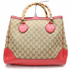 e31a667c867 Buy Pre Owned Gucci · Authentic-Gucci-Tote-Bag-Reds-Canvas-307368 Gucci  Tote Bag