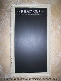 make a prayer board. I love this idea!!! That way nobody gets left out!
